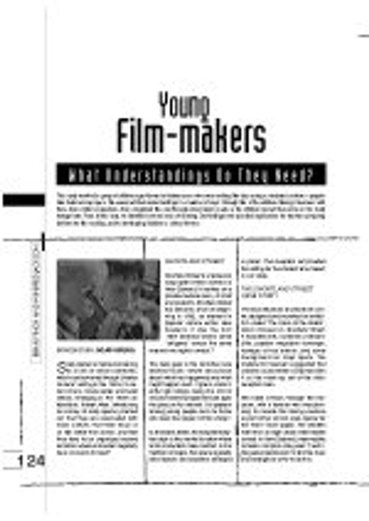 Young Film-Makers: What Understandings Do They Need?