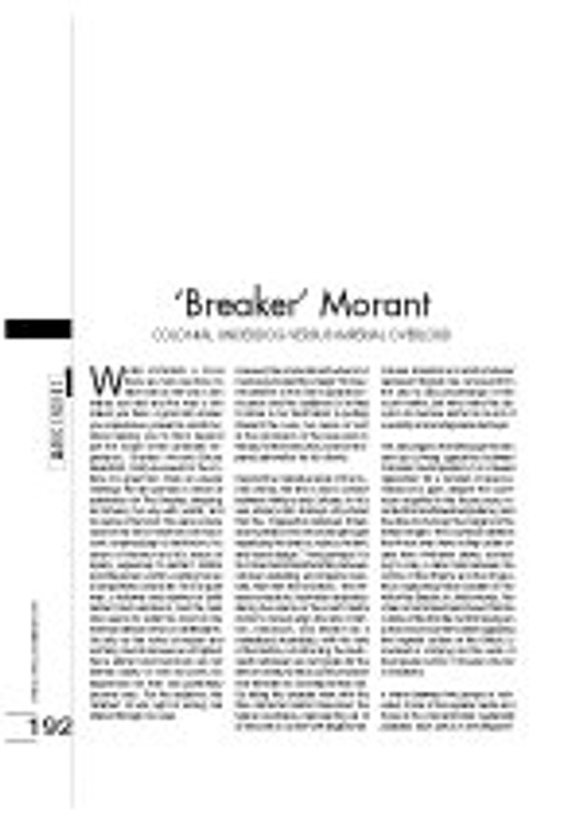 'Breaker' Morant - Colonial Underdog Versus Imperial Overlord