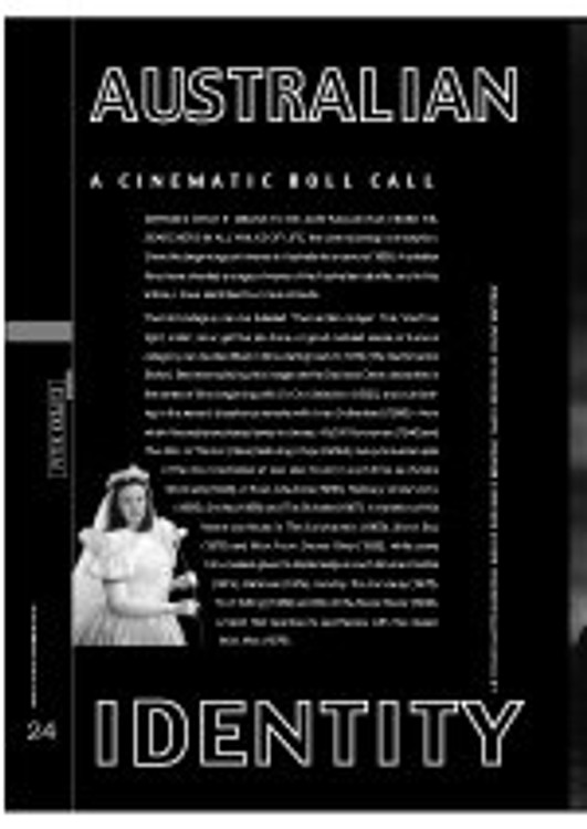 Australian Identity - A Cinematic Roll Call