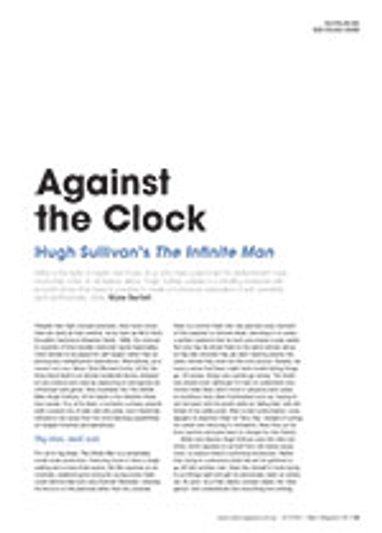 Against the Clock: Hugh Sullivan's <em>The Infinite Man</em>