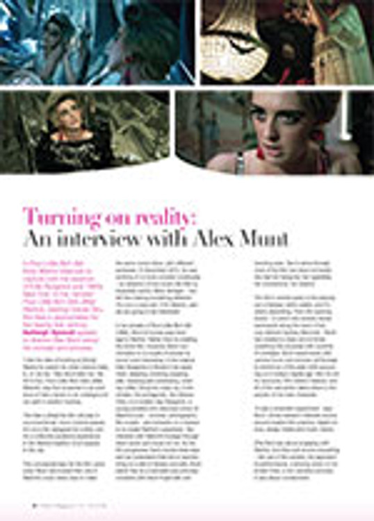 Turning on Reality: An Interview with Alex Munt