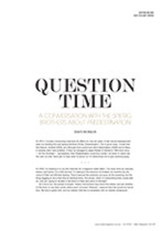 Question Time: A Conversation with the Spierig Brothers about <em>Predestination</em>
