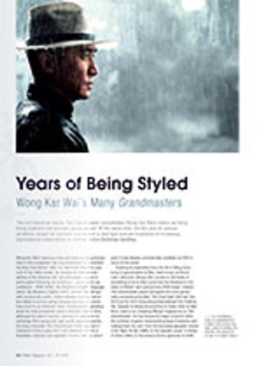 Years of Being Styled: Wong Kar Wai's Many <em>Grandmaster</em>s