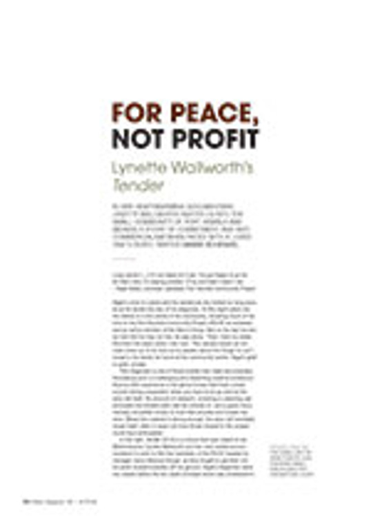For Peace, not Profit: Lynette Wallworth's <em>Tender</em>