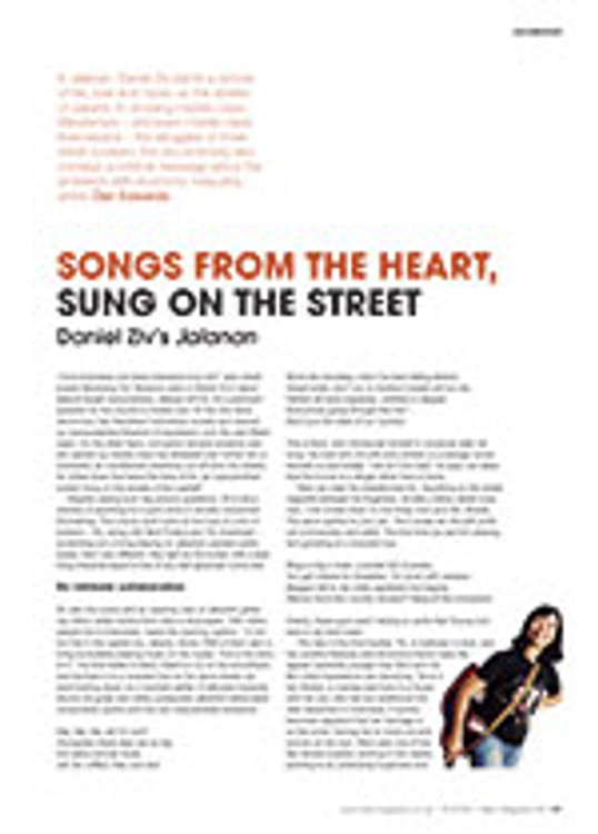 Songs from the Heart, Sung on the Street: Daniel Ziv's <em>Jalanan</em>