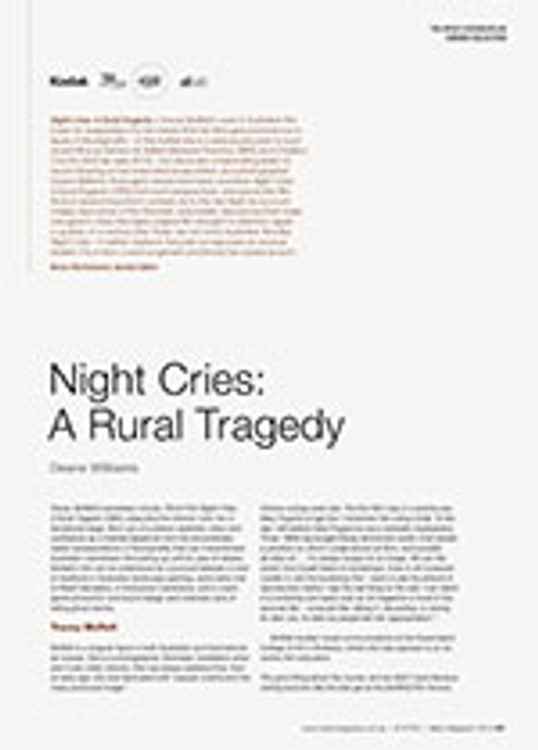NFSA's Kodak/Atlab Cinema Collection: <em>Night Cries: A Rural Tragedy</em>