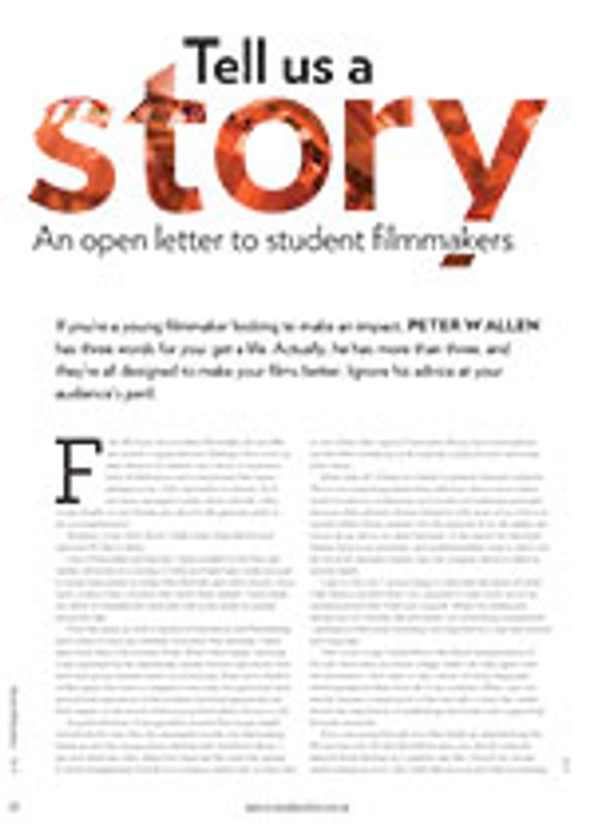 Tell Us a Story: An Open Letter to Student Filmmakers