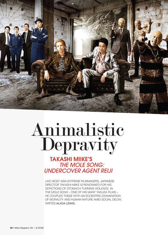Animalistic Depravity: Takashi Miike's The Mole Song: Undercover Agent Reiji