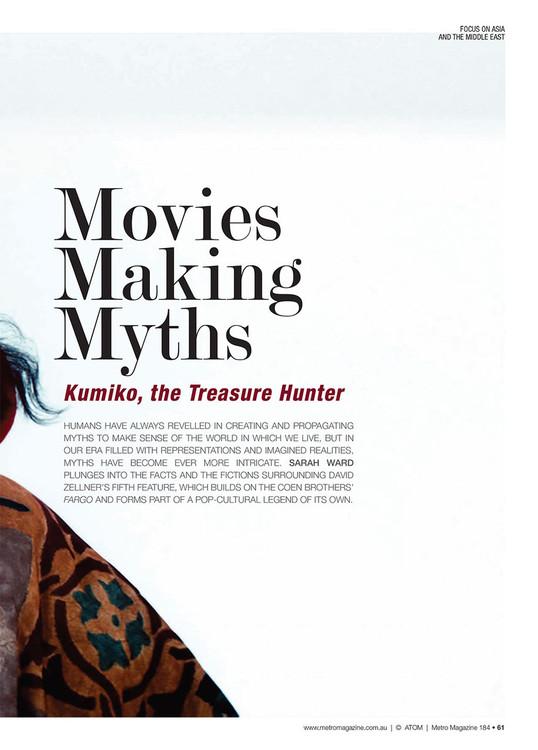 Movies Making Myths: Kumiko, the Treasure Hunter