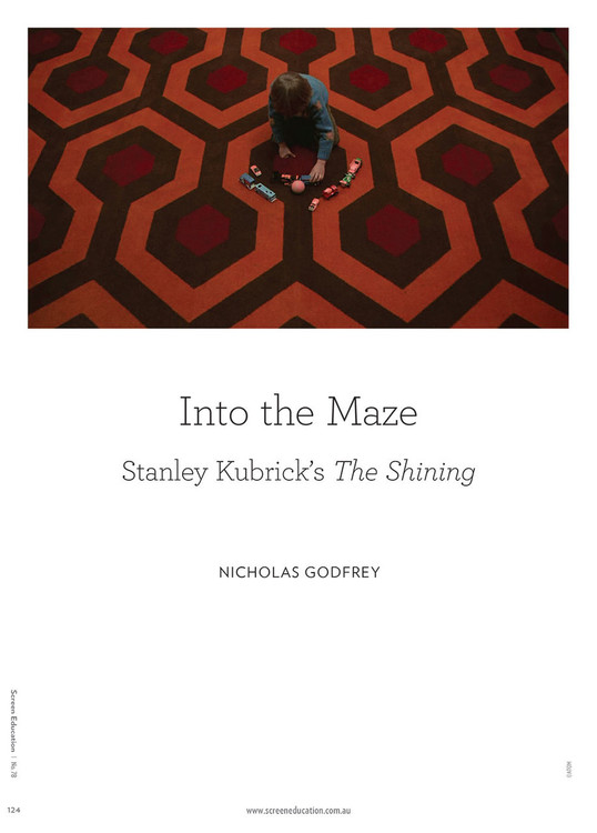 3ddf1ed5cb1d Into the Maze  Stanley Kubrick s The Shining - The Education Shop