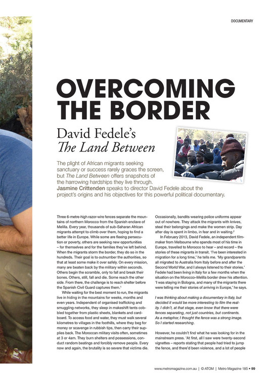 Overcoming the Border: David Fedele's The Land Between