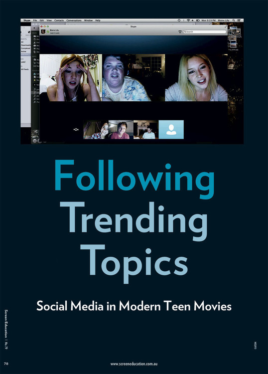 Following Trending Topics: Social Media in Modern Teen Movies