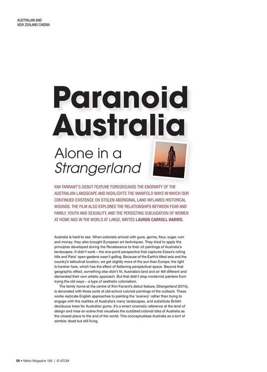 Paranoid Australia: Alone in a Strangerland
