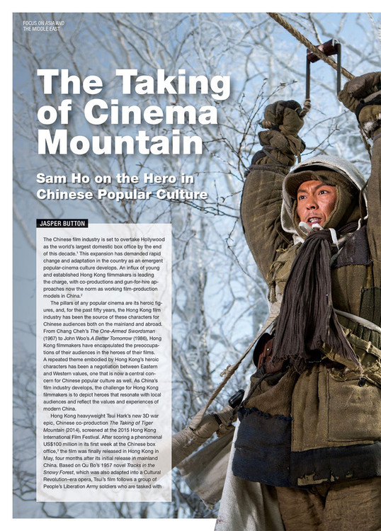The Taking of Cinema Mountain: Sam Ho on the Hero in Chinese Popular Culture
