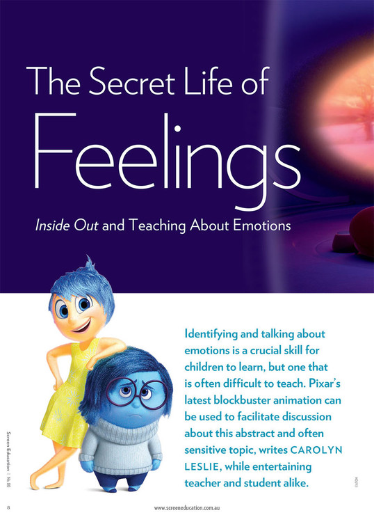 The Secret Life of Feelings: Inside Out and Teaching About Emotions