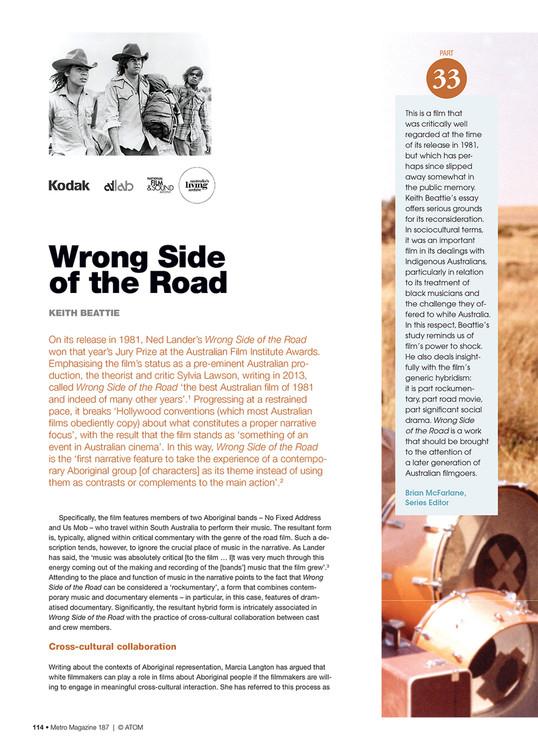 NFSA's Kodak/Atlab Cinema Collection: Wrong Side of the Road