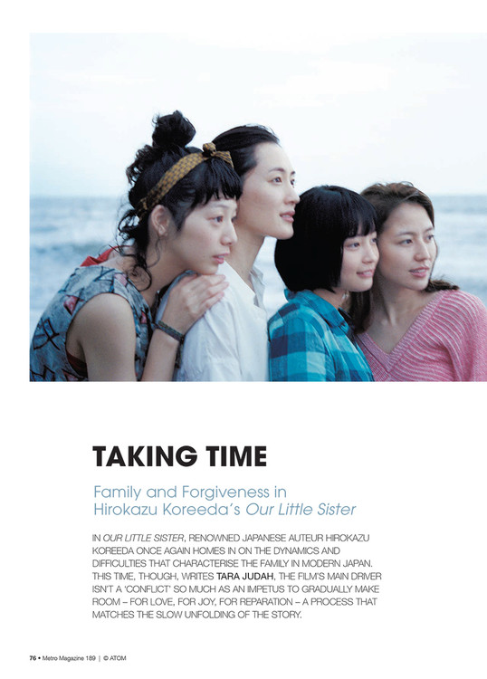 Taking Time: Family and Forgiveness in Hirokazu Koreeda's Our Little Sister