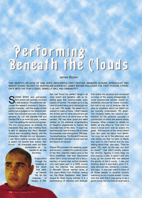 Performing Beneath the Clouds