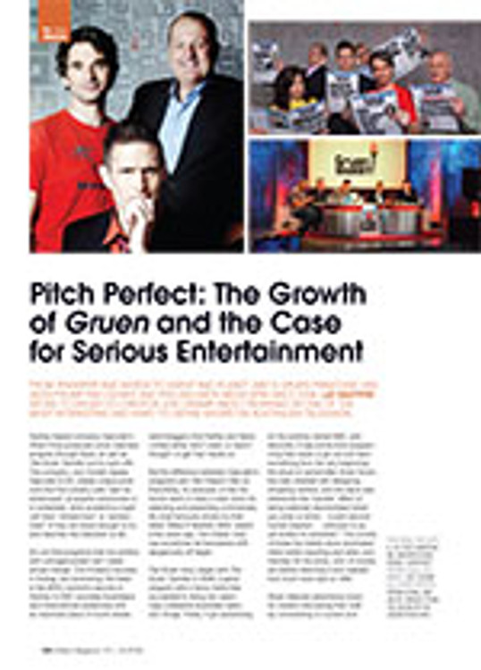 Pitch Perfect: The Growth of <em>Gruen</em> and the Case for Serious Entertainment