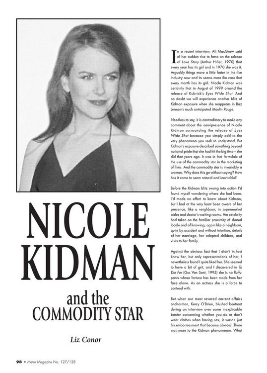 Nicole Kidman and the Commodity Star