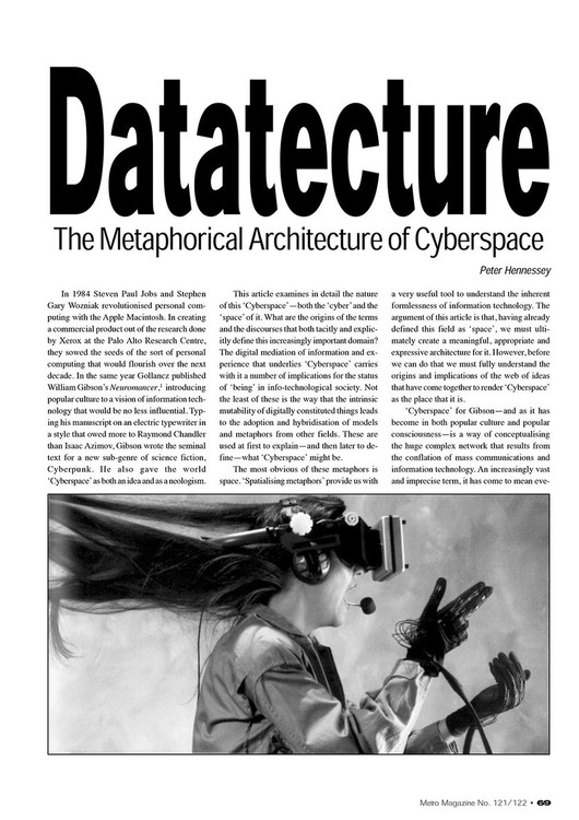 Datatecture: The Metaphorical Architecture of Cyberspace