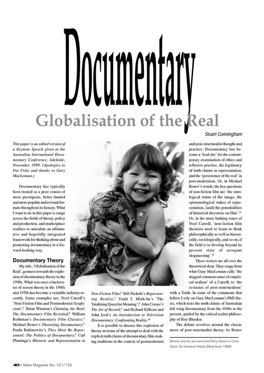 Documentary: Globalisation of the Real