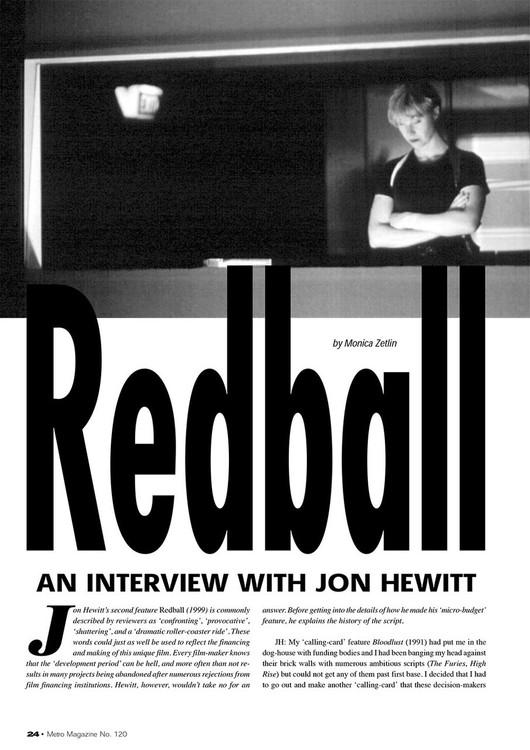 Redball': An Interview with Jon Hewitt