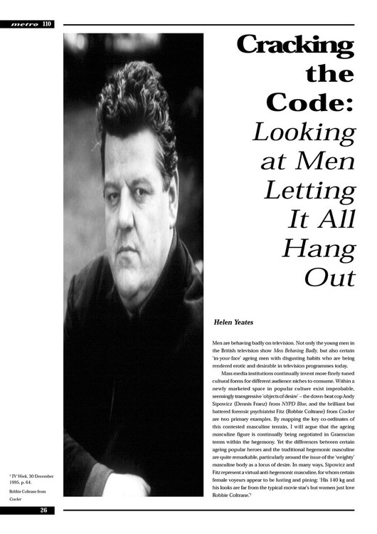Cracking the Code: Looking at Men Letting It All Hang Out