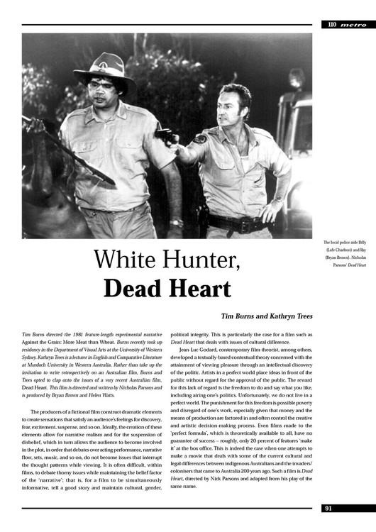White Hunter,' Dead Heart'