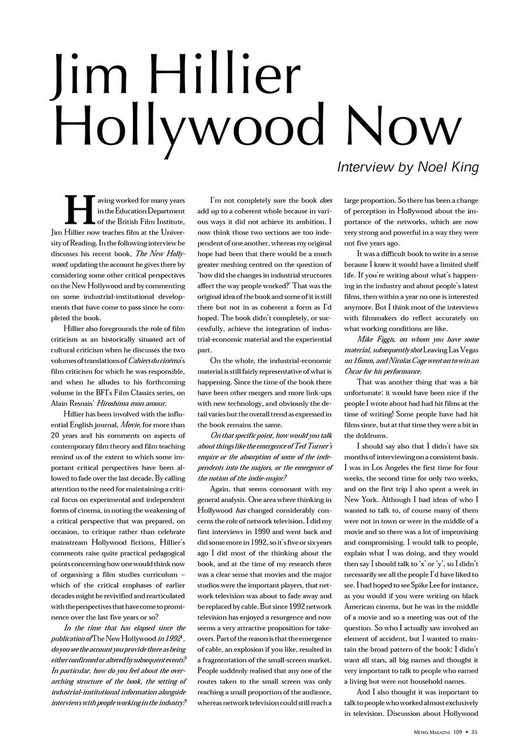 Jim Hillier: Hollywood Now