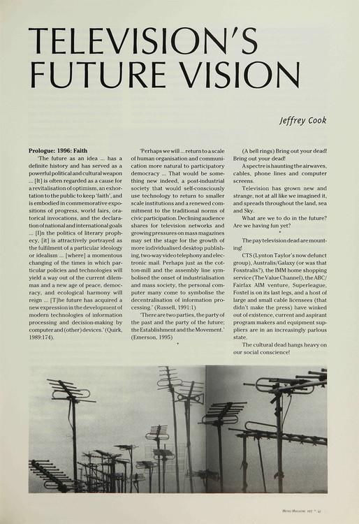 Television's Future Vision