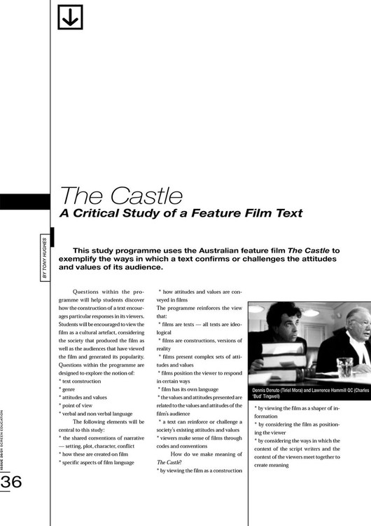 The Castle': A Critical Study of a Feature Film Text