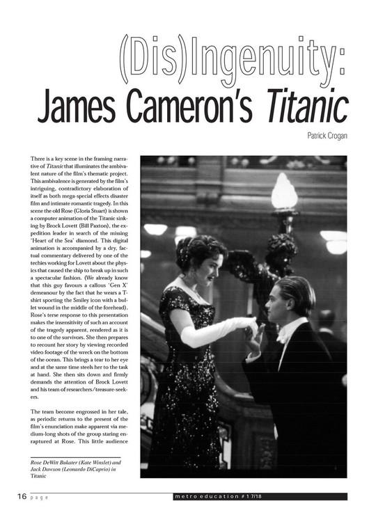 (Dis)Ingenuity: James Cameron's 'Titanic'