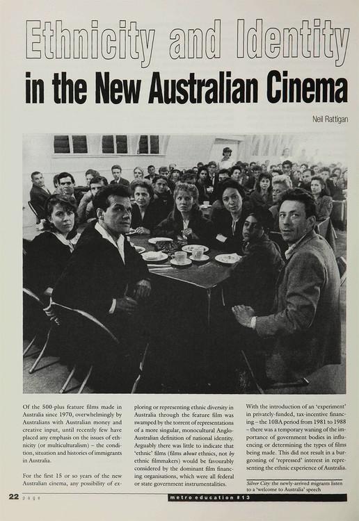 Ethnicity and Identity in the New Australian Cinema