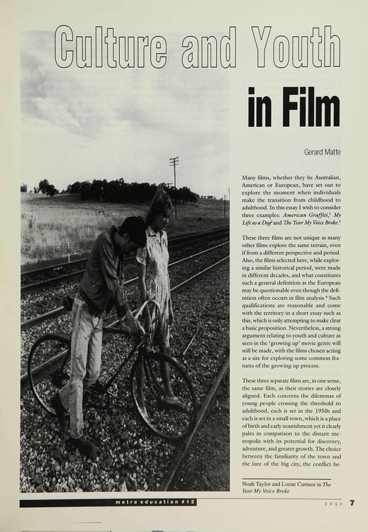 Culture and Youth in Film