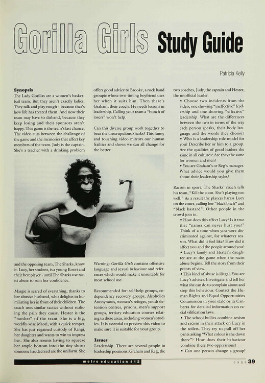 Gorilla Girls' (A Study Guide)