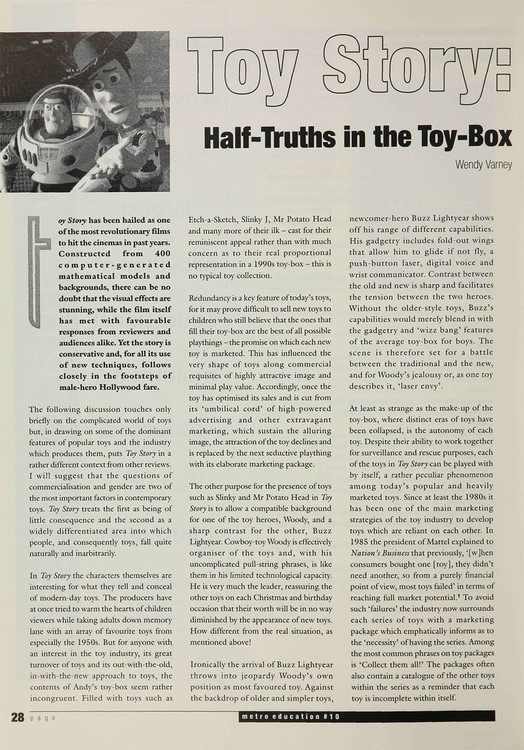 Toy Story': Half-truths in the Toy-box
