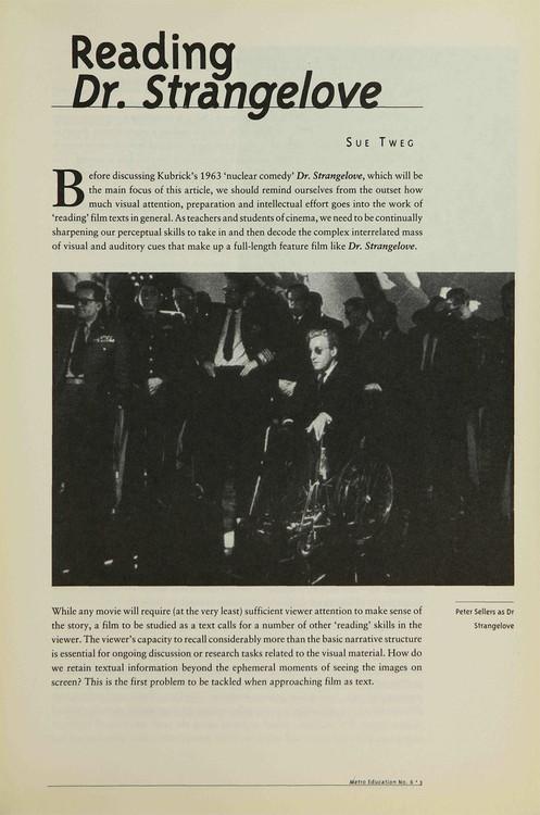 Reading 'Dr. Strangelove'