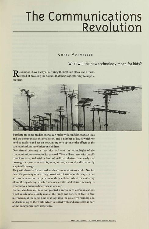 The Communications Revolution