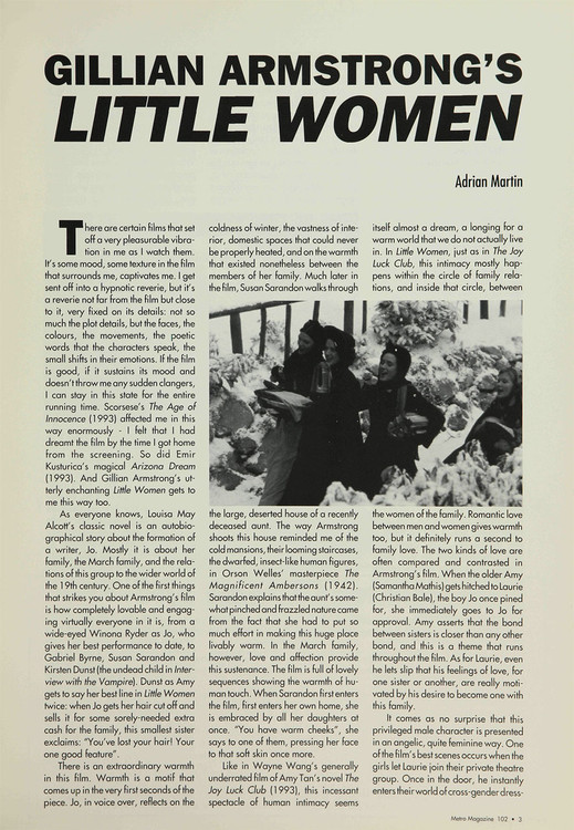 Gillian Armstrong's 'Little Women'