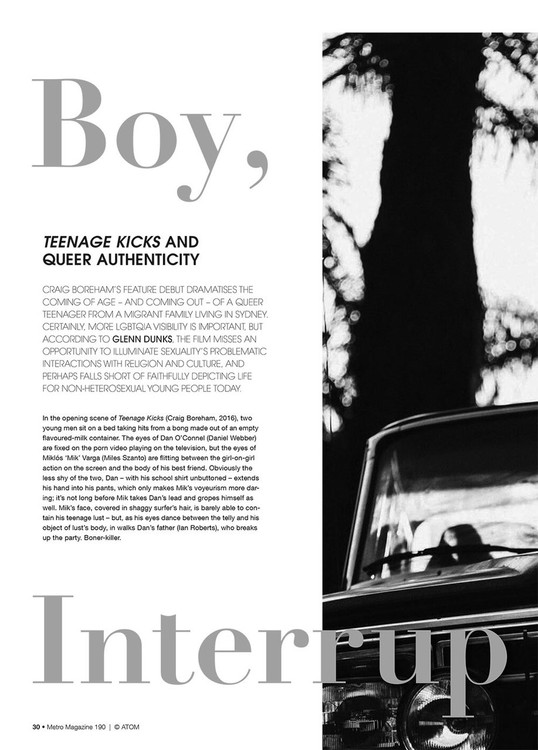 Boy, Interrupted: Teenage Kicks and Queer Authenticity
