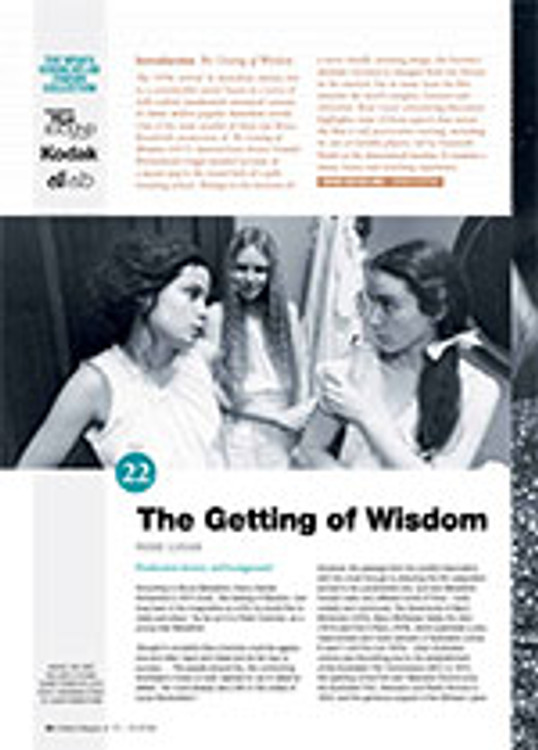 NFSA's Kodak/Atlab Cinema Collection: <em>The Getting of Wisdom</em>