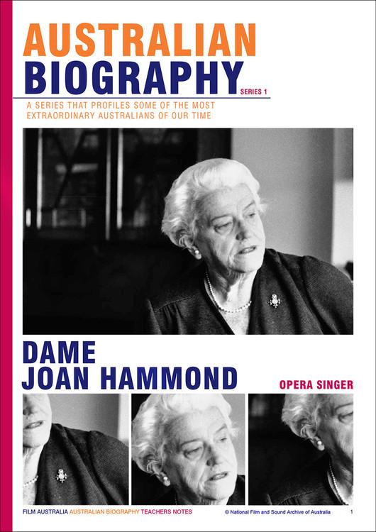 Australian Biography Series - Dame Joan Hammond (Study Guide)