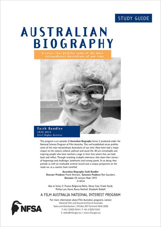 Australian Biography Series - Faith Bandler (Study Guide)