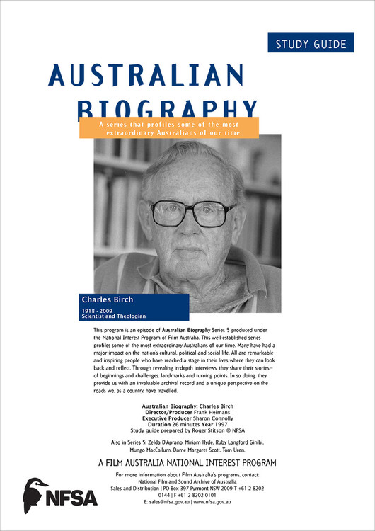 Australian Biography Series - Charles Birch (Study Guide)