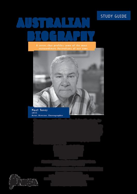 Australian Biography Series - Noel Tovey (Study Guide)
