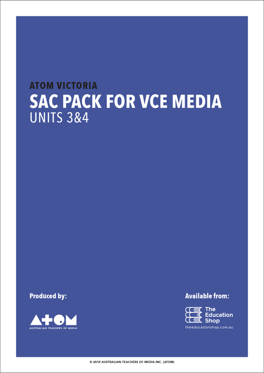 2018 ATOM SAC Pack For VCE Media Units 3&4