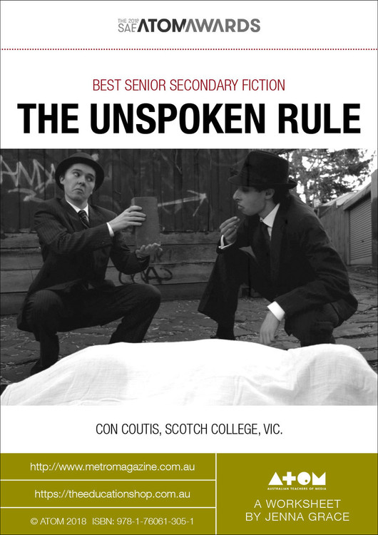 2018 SAE ATOM Award winner: The Unspoken Rule (ATOM Worksheets)