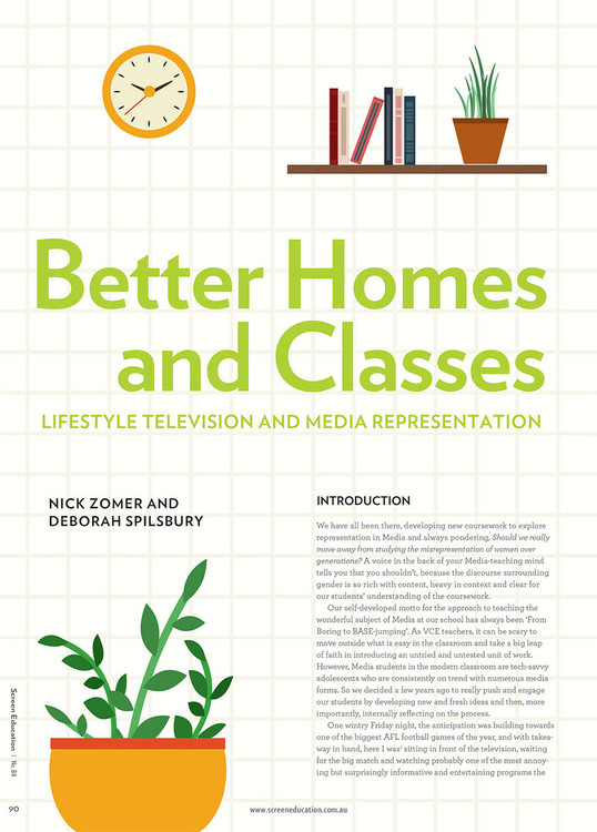Better Homes and Classes: Lifestyle Television and Media Representation