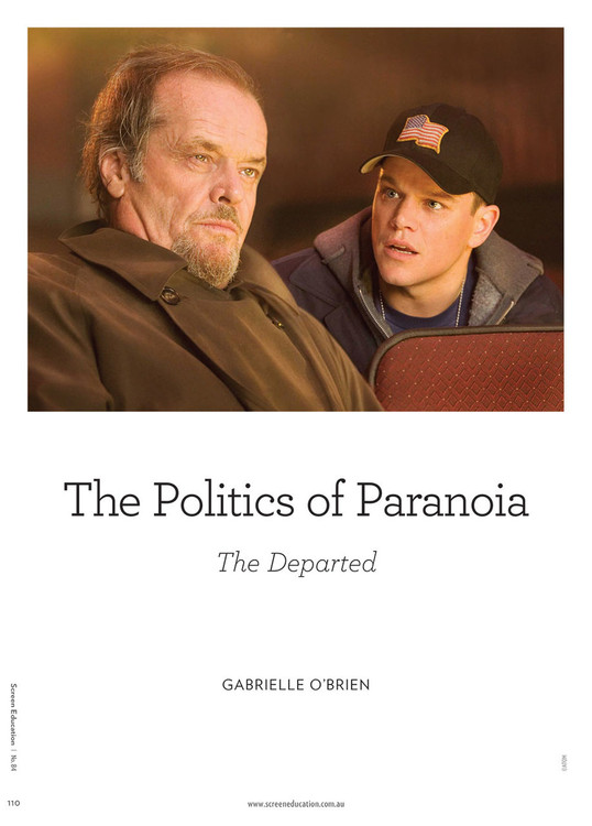 The Politics of Paranoia: The Departed